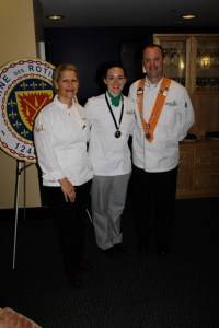 Anne Kearny, Competition Winner Katelyn Banks, and MCI Instructor/Chef Rôtisseur Alan Neace, Sr.