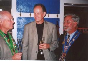 Bailli Peter Hainline, Chris Steuri, Vice Conseiller Gastronomique Robert Hasl