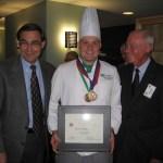 Dan Cayse, competition winner Bob Whitmer, Bailli Irwin Weinberg