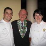 Executive Chef Jose Salazar, Irwin Weinberg, and Pastry Chef Summer Genetti