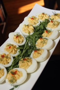 Caviar deviled eggs