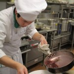 Young Chef competitor prepares his dish
