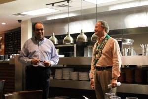 Restaurant owner Wassim Matar, Bailli George Elliott