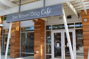 Entrance to the Brown Dog Cafe