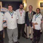 Alan Neace, Bronze Medalist John Solimine, Nick Ellison, George Elliot, Tyra Watkins, Clint Haynes