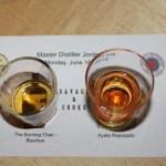 Spirits in tasting glasses