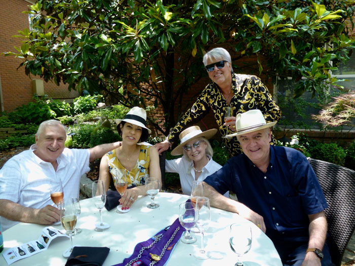 Larry Huston, Flavia Bastos, John and Jeannine Winkelmann, and John Mocker