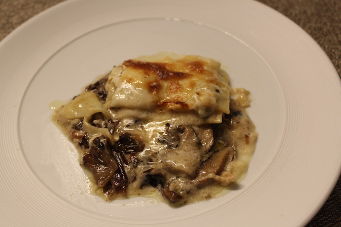 Mixed mushroom lasagna