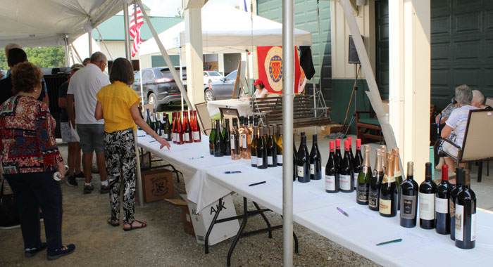 Wine Auction Table