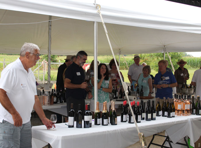 Mike Monnin overseeing the wine auction