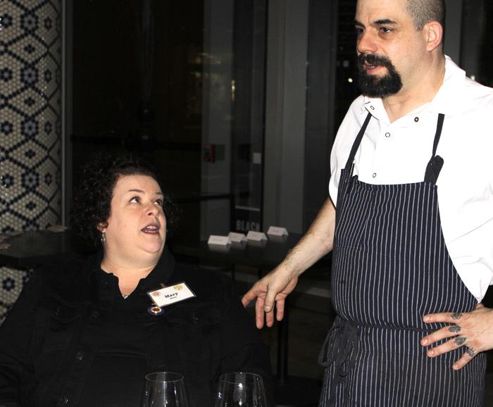 Chef Salazar and Mary Horn