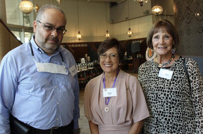 Wasimm Matar, Sue Mills, and Linda Trebbi