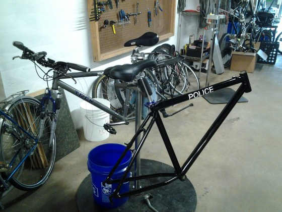 A major transplant, so the police could send their old bikes out for a fresh coat of paint