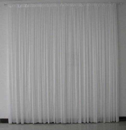 4m x 3m white pleated wedding backdrop