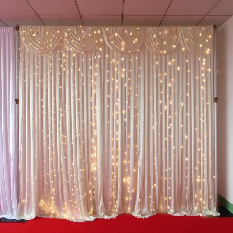 3m x 3m warm white led curtain lights