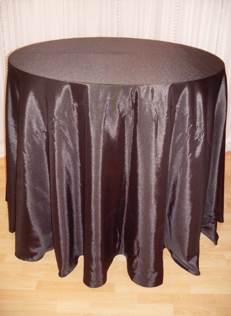 Chair Decor Black Bengaline Tablecloth