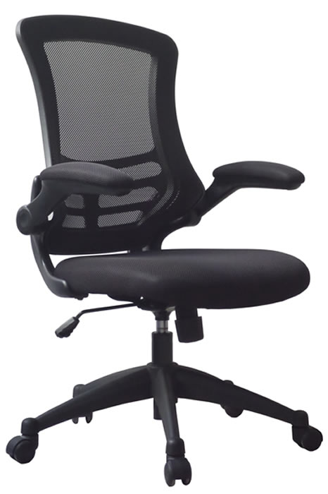 Alabama Mesh Office Chair Folding Arms Height Adjustable