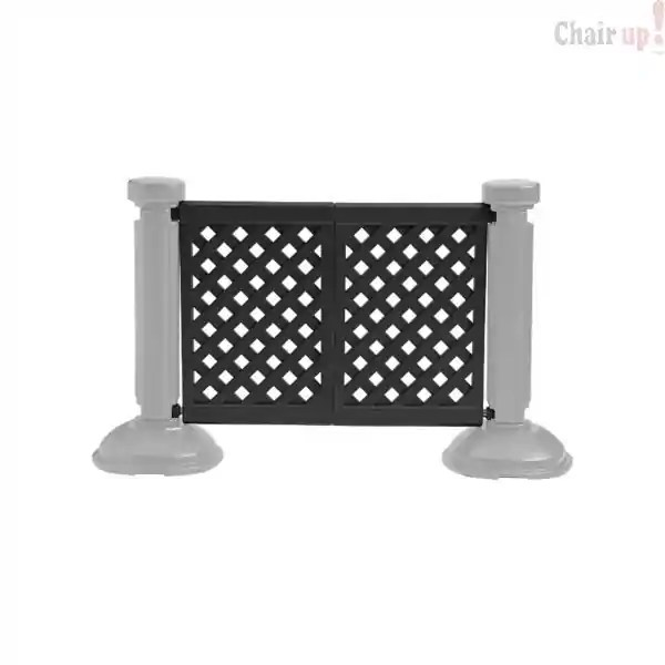 resin restaurant outdoor patio fence partition 2 panel