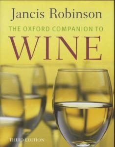 Livres sur le vin the oxford companion to wine