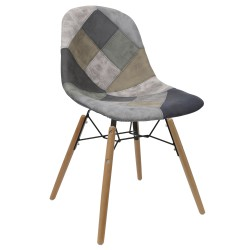 chaise scandinave tissu patchwork avo