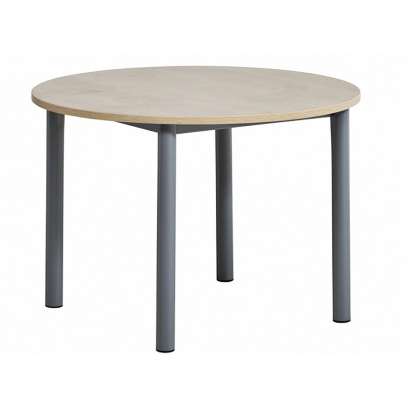table fixe ronde lustra personnalisable
