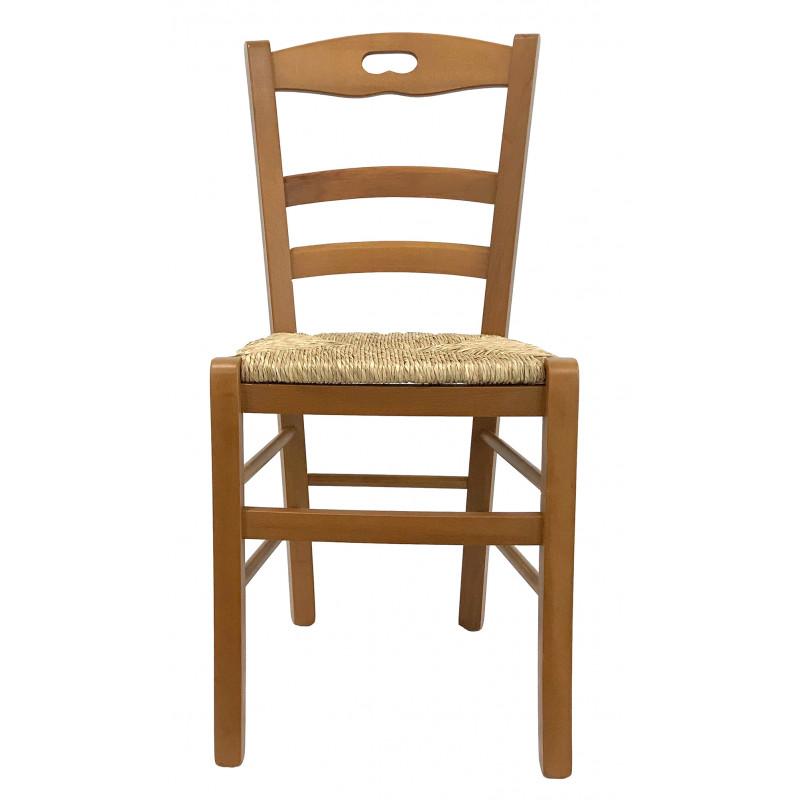chaise bois et paille savoy
