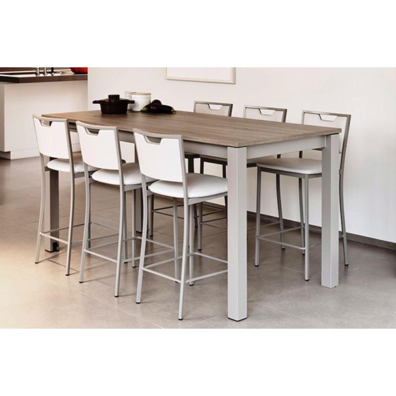 table hauteur 90 cm avec allonge valencia
