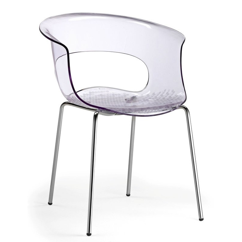 fauteuil de cuisine en plexiglas miss b