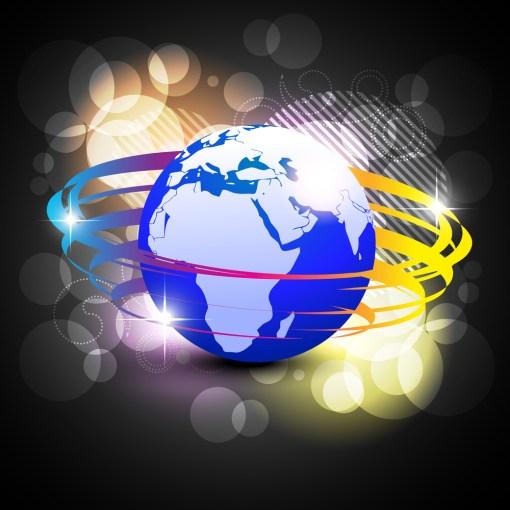 stylish shiny vector blue earth illustration