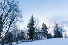 Schneelandschaft Chalet Hafling