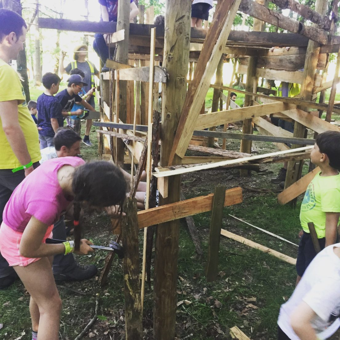 Woodland Tribe keep the kids' adventure playground safe at Into the Trees
