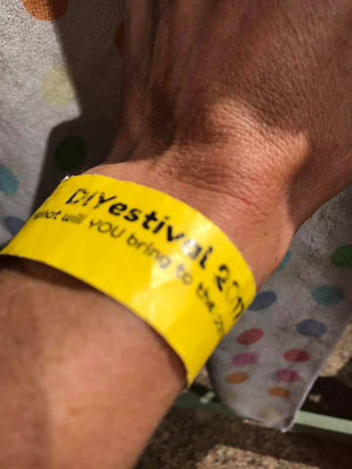 DIYestival wrist band. What activity pop up will you bring?