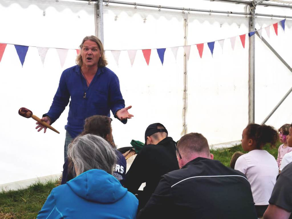 Into The Trees is a family festival with not only nature activities, but also stories from east and west. Here is Swedish storyteller Andreas Kornevall.