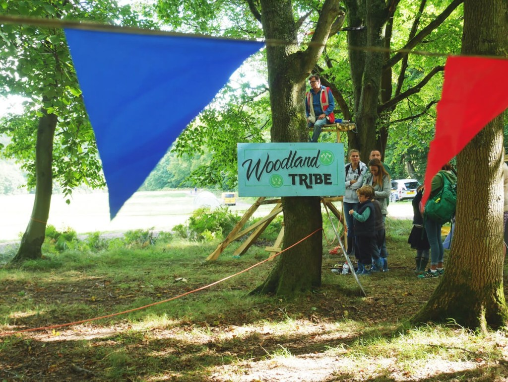 Kid built wooden playgrounds by children, for children, at Into The Trees family festival.