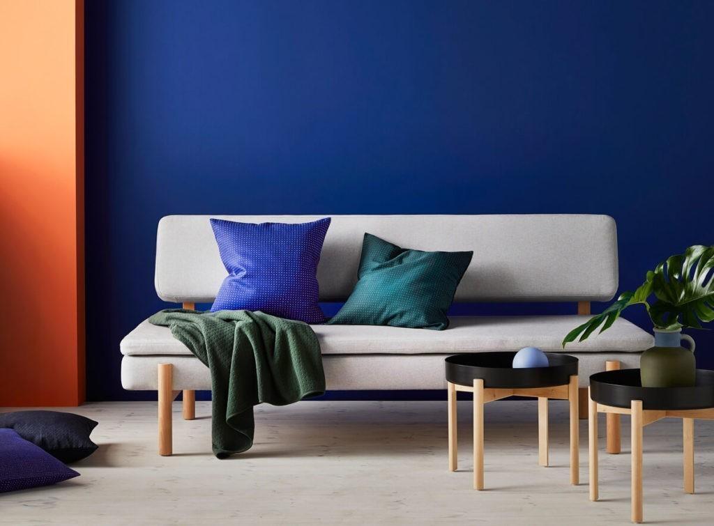 IKEA HAY Collection YPPERLIG Sleeper Sofa, Coffee Table, Vase