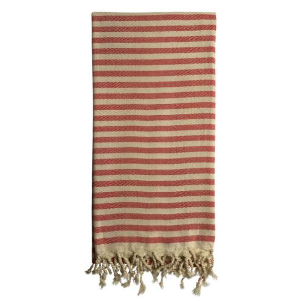 Turkish beach towels, Cemile in cherry red