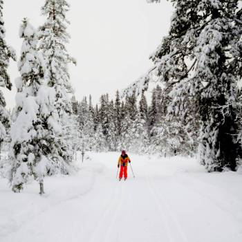 Full body workout for my daughter - Nordic skiing in Sälen, Sweden!