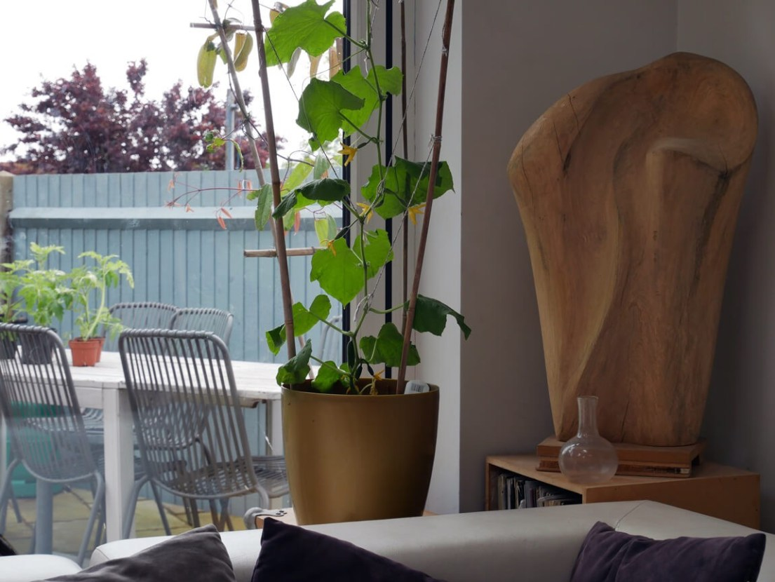 Mix and match natural materials for tactile surfaces.