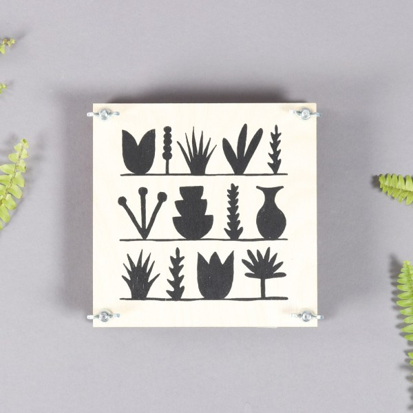 Flower press - an ideal gift for adults and children. Pick your favourite flowers, press them and leave until dry. Then use them as book marks or decorations. By Wald on nature connected design and homeware store chalkandmoss.com.