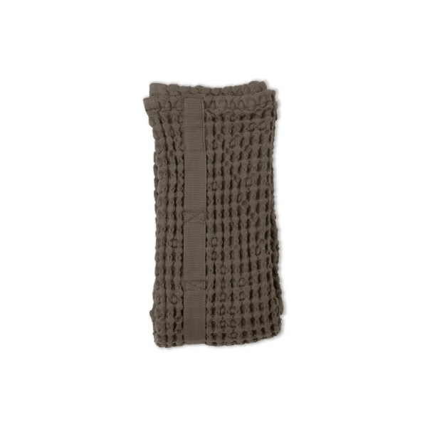 Big waffle hand towel in clay. By Denmark's The Organic Company. 100% GOTS certified organic cotton, ethically made in India. Sold on nature connected design shop Chalk & Moss (chalkandmoss.com)