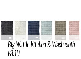 Big waffle kitchen and wash cloth by The Organic Company. Designed in Denmark, made ethically in India. Ideal for Plastic Free July and beyond! Shop plastic free alternatives at https://www.chalkandmoss.com/product-tag/plastic-free/
