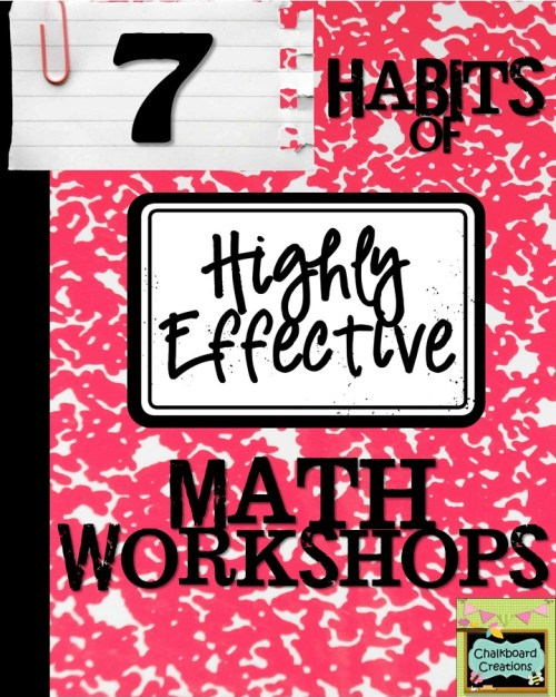 Check out this blog post series: 7 Habits of a Highly Effective Math Workshop! It includes lots of tips on how to run an effective math workshop in your classroom!