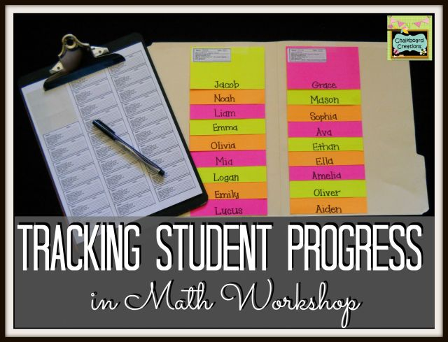 Tracking Students in Math Workshop