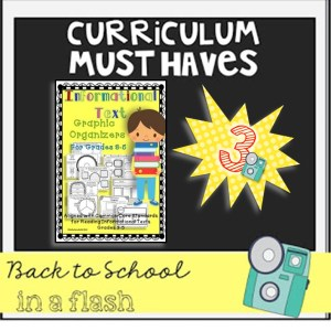Back to School in a Flash: Reading Graphic Organizers for Informational Texts