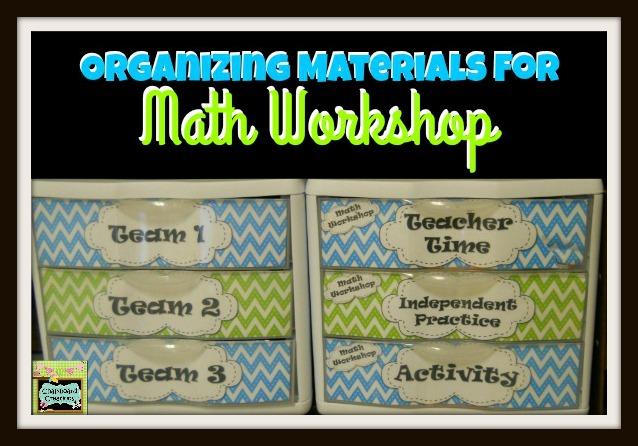 Organizing Math Workshop