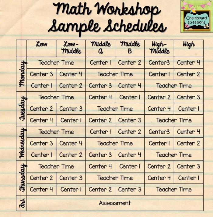 3 Ways to Make Math Workshop Fit Your Schedule 3