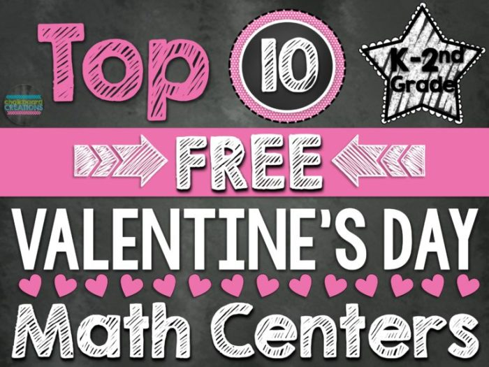 Top 10 Valentines Day Math Centers K-2nd Grade