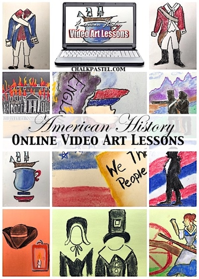 American History Video Art Lessons - 100 Ways to Study the American Revolution in Your Homeschool