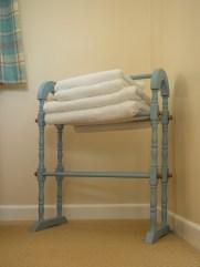 Soft white towels