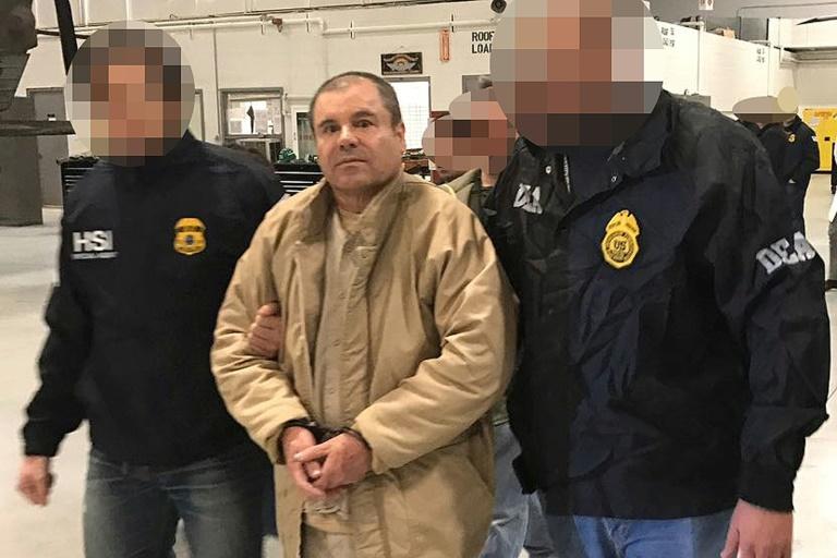 "Le narcotraficant Joaquin ""El Chapo"" Guzman, le 19 janvier 2017, à Ciudad Juarez (INTERIOR MINISTRY OF MEXICO/AFP/Archives - HO)"